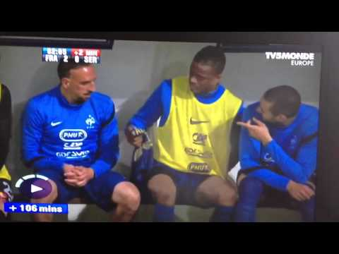 Evra wipes backside with team shirt