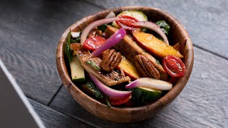 Grilled Peach Summer Salad by Tasty