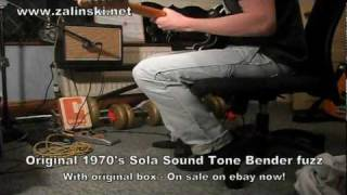 Original 1970's Sola Sound Tone Bender fuzz