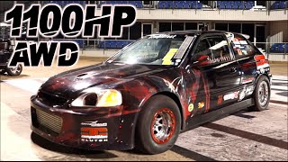 AWD Civic UPSETS Domestic Muscle! 1100HP V8 Killer Honda H22 (Fastest H-Series AWD) by  That Racing Channel