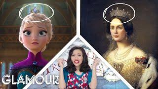 "Video Fashion Expert Fact Checks Elsa and Anna's Costumes from ""Frozen"" | Glamour MP3, 3GP, MP4, WEBM, AVI, FLV Juli 2019"