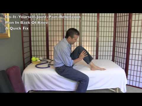 Pain In Back Of Knee - A Quick Fix