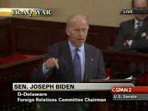 Joe Biden Rips GOP On Iraq War Resolution
