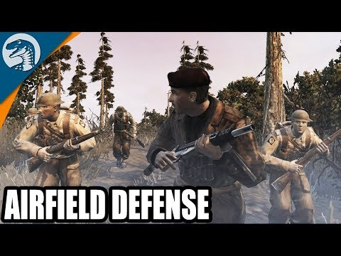 INSANE NORMANDY AIRFIELD DEFENSE MISSION 1944 | Company of Heroes: Opposing Fronts Gameplay