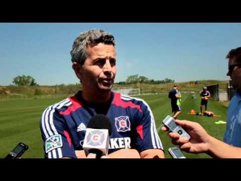 officialfiresoccer - Fire head coach Frank Klopas previews Friday night's match vs. Sporting KC and speaks of his national team memories with former roommate and current Sporting...