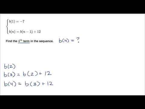 Worked example: using recursive formula for arithmetic sequence ...