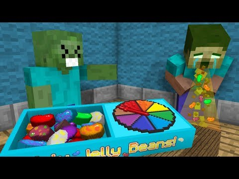 Monster School: Menjijikkan JELLY BEANS CHALLENGE! 😷 - Animasi Minecraft