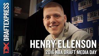 Henry Ellenson 2016 NBA Draft Media Day Interview