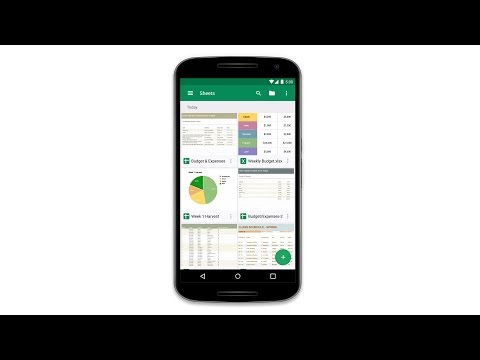 Video of Google Sheets