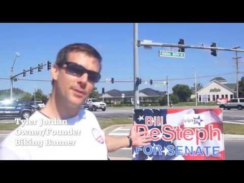 Bill Listens, Bill Cares-Biking Banners