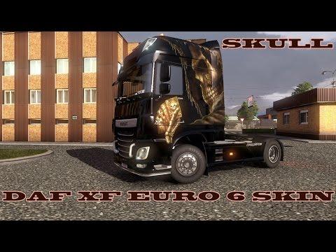 Skull DAF XF EURO 6 Skin 1.15