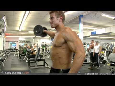 lateral raises - Brock Cunico rips up his shoulders with lateral raises.