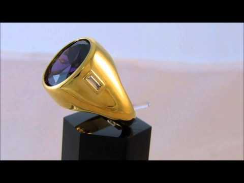 Elvis Presley Amethyst Ring