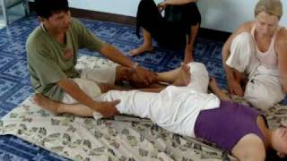 Pichest Boonthumme Teaching Thai Massage In Chiang Mai Thailand