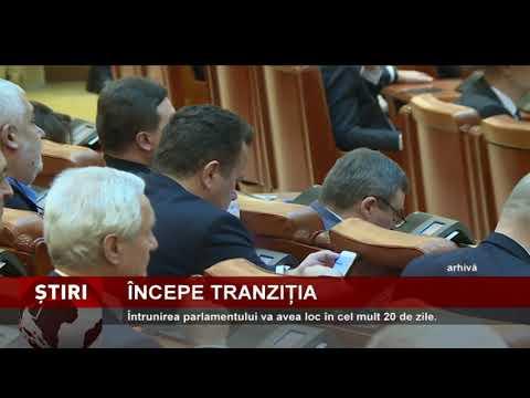Întrunirea noului parlament, în cel mult 20 de zile