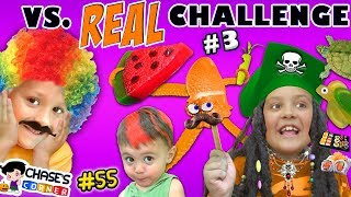 Video GUMMY vs. REAL FOOD CHALLENGE #3 🍉 Chase's Corner Halloween Brothers |#55 DOH MUCH FUN MP3, 3GP, MP4, WEBM, AVI, FLV Juli 2018
