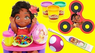 Video DISNEY MOANA Learns Good Manners Education for Kids, Eats Candy Play Doh Playset Fidget Spinner Game MP3, 3GP, MP4, WEBM, AVI, FLV Juni 2017