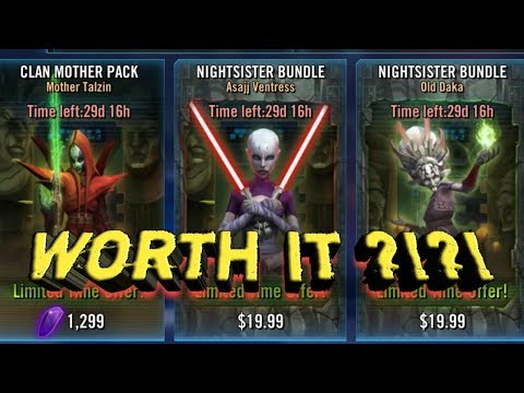 Worth It ?!?! Mother Talzin Packs Opened to 7 Star!!!  star wars galaxy of heroes swgoh