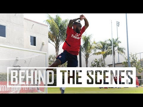 👀 Behind The Scenes At Our First LA Training Session | Arsenal In USA 2019