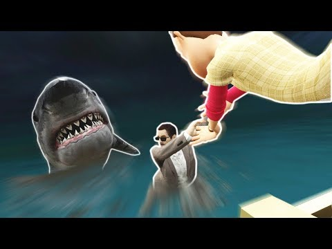 Garrys Mod - TSUNAMI STRIKES BOAT IN SHARK INFESTED WATERS! - Garry's Mod Gameplay (Gmod Roleplay)