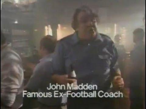 JOHN MADDEN - 1985 MILLER LITE beer commercial