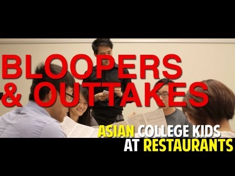 Asian College Kids at Restaurant - BLOOPERS & OUTTAKES