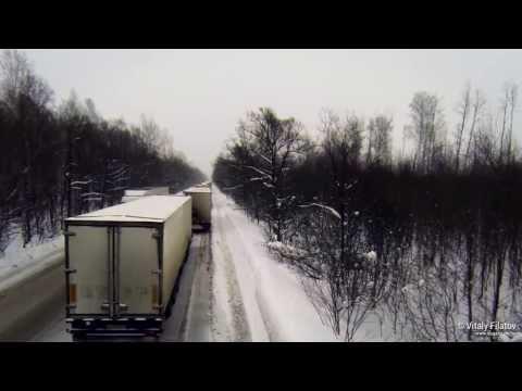 Пробка на трассе М5 Уфа — Челябинск (22 декабря 2013)