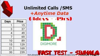 Etisalat Digimore (fast test) Unlimited: Call,sms,Data - sinhala