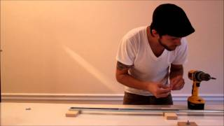 DIY  Glide Track / Camera Slider [Canon Rebel T2i / EOS 550D]  Tutorial