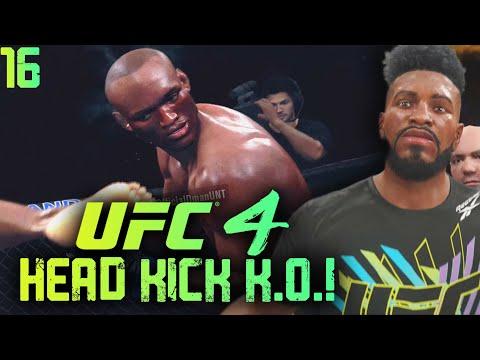 UFC 4 Career Mode Gameplay EP. 16 - Insane Neck Breaking Knockout Kicks! UFC 4 Career Mode