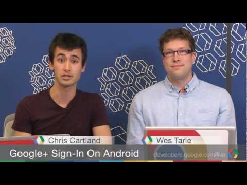 sign in - Join +Chris Cartland and +Wesley Tarle as they show off how easy it is to implement Google+ Sign-In on Android, using our own Android quick-start as a guide! Check it out for yourself at https://d...