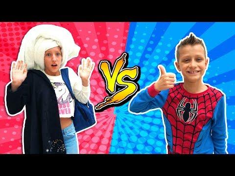 GIRLS vs. BOYS Morning Routine!!! (видео)
