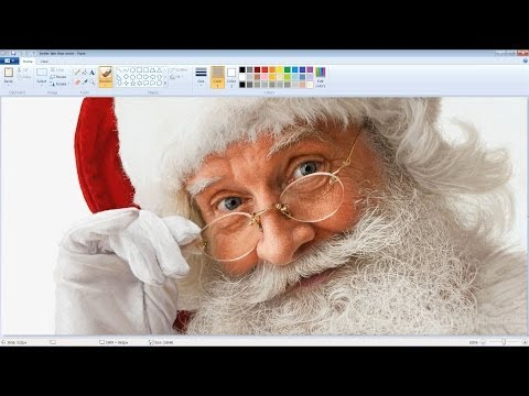 This picture of Santa Claus drawn with MS Paint