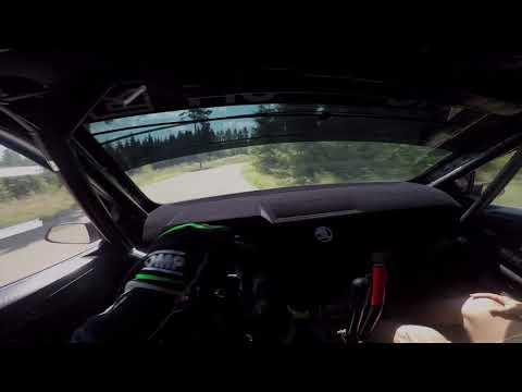 Kalle Rovanperä - Neste Rally Finland 2018 | Tests | Helmet cam