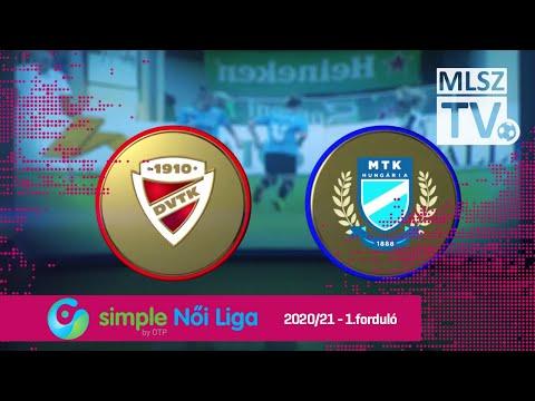 1. forduló: DVTK - MTK 0-2 (0-1)