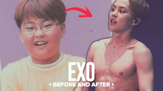 EXO - Predebut Vs Now : Before and After