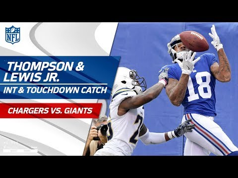 Video: Darian Thompson's INT in the End Zone & Eli Manning's TD Pass! | Chargers vs. Giants | NFL Wk 5
