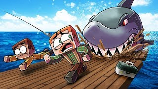 Minecraft | Stupid Place - SHARK ATTACK DESTROYS THE BOAT!