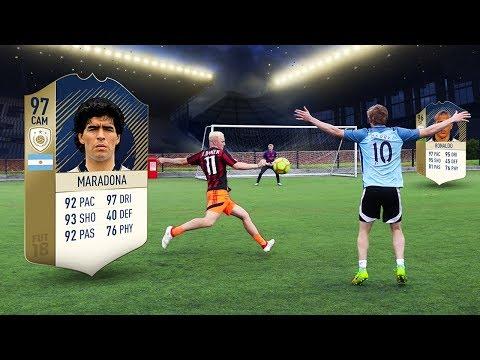 FOOTBALL vs FIFA 18 (видео)