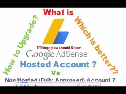 what is adsense hosted account ? Non Hosted Account