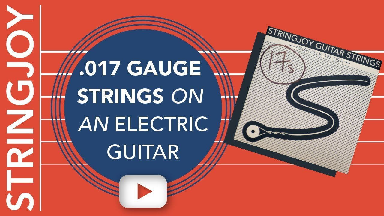 .017 Gauge Strings on an Electric Guitar!