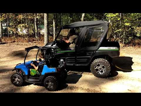 Mini RZR takes on Kawasaki Teryx UTV for cash and wins