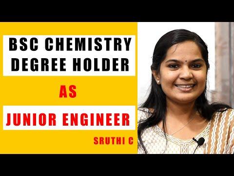 BSC Chemistry Degree Holder As Junior Engineer I Sruthi C I Kerala Zone I Race Institute