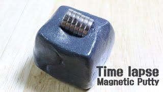 자석을 먹는 액체괴물인듯 고체괴물 인듯?! / Magnetic Putty TIME LAPSE 2탄  / 알쿡 / RMTV LAB