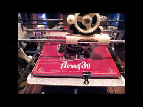 Video of Very First 3D Printed Object from Airwolf 3d printer Kit -A Review Submitted By Customer
