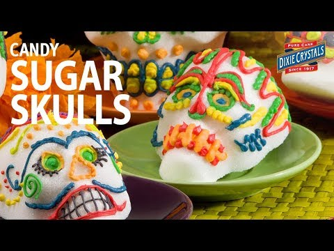Day of the Dead Candy Sugar Skulls Recipe & Decorating Ideas