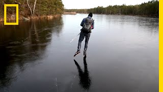 Hear the Otherworldly Sounds of Skating on Thin Ice | National Geographic
