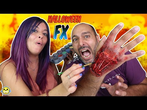 SUPER MAQUILLAJE FX FÁCIL PARA HALLOWEEN 2018 HALLOWEEN EASY MAKE UP FX Momentos Divertidos