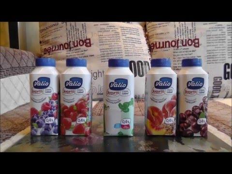 Питьевые йогурты Валио. Обзор продуктов