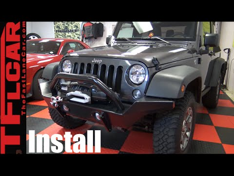 How to Install new Bumpers & Winch on a Jeep Wrangler - DiffLock Ep.13